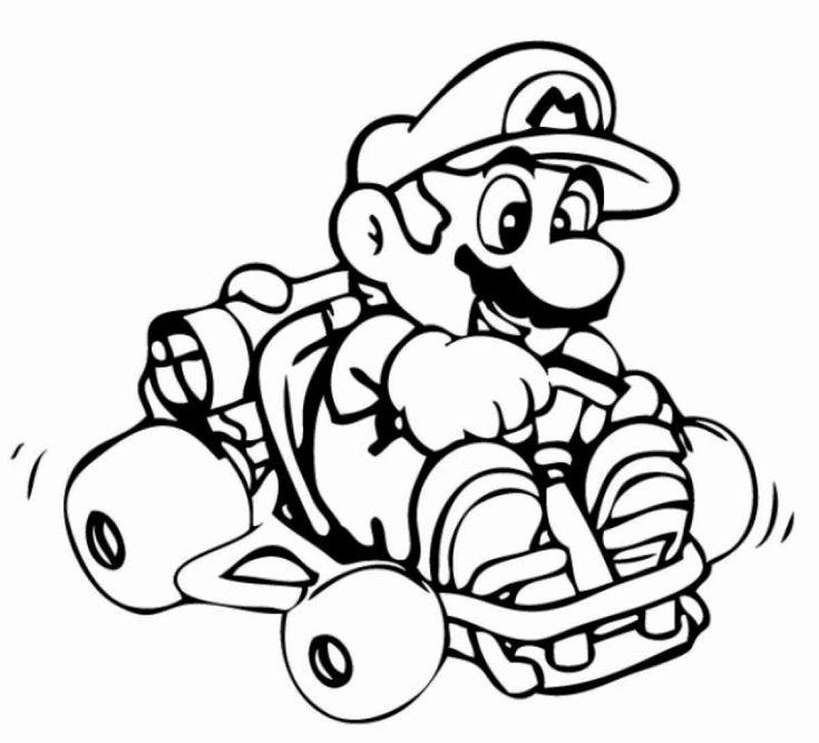 Mario Kart Coloring Page Fresh Mario Kart Characters ...
