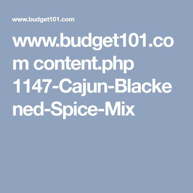 www.budget101.com content.php 1147-Cajun-Blackened-Spice-Mix