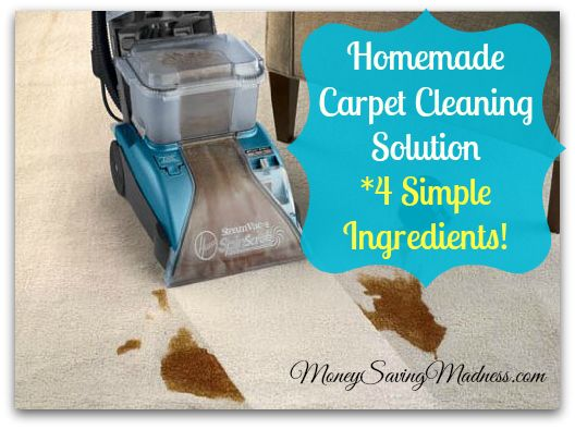 Homemade Carpet Cleaning Solution for Machines | Amazing Results! on http://www.moneysavingmadness.com