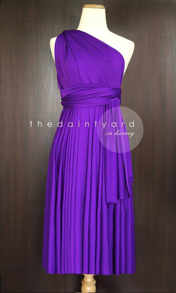 49400fa0515e9 TDY Barney Short Straight Hem Infinity Dress Multiway Bridesmaid ...