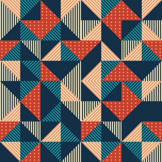 Geometric Triangle Abstract With Colorful Vintage Background Geometric Pattern Background Seamless Background Background Patterns