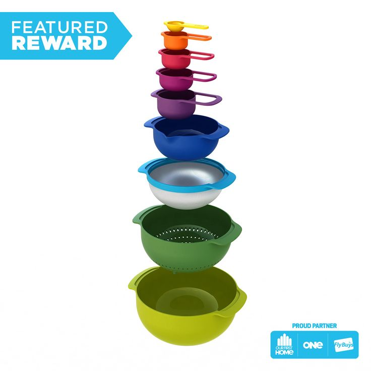 Joseph Joseph 9pc Nest Bowls and Measuring Cups #flybuysnz #360points #OFHNZ