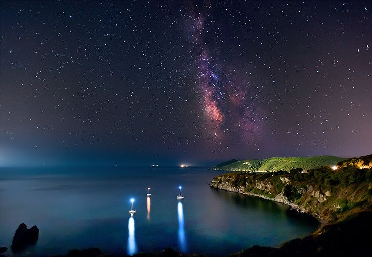 Milky Way from Elba Island bay by Mario Tarello, via 500px