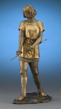 Claire Colinet, Fine Art, Bronze Sculpture, Joan of Arc ~ M.S. Rau Antiques