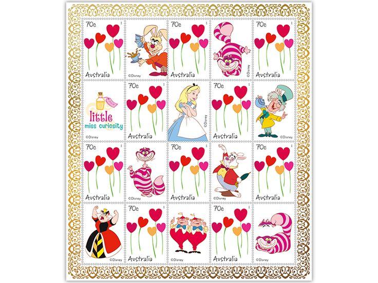 Alice in Wonderland stamp pack
