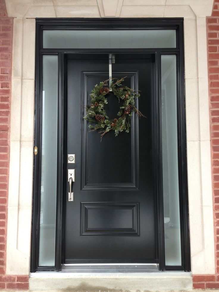 2 Panel Steel Door Finished In Satin Black With Custom