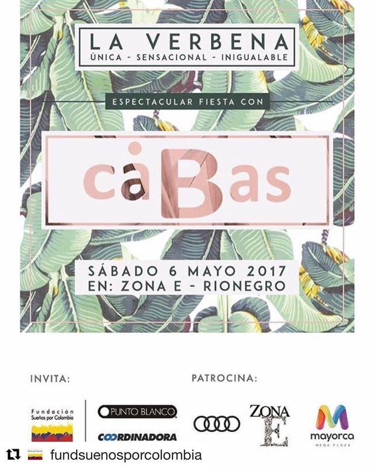 #Repost @fundsuenosporcolombia  ・・・  Reserva la fecha sabado mayo 6   Invitación abierta a Gran Fiesta de anfitriones con artista CABAS - apoyando La fundacion:  @audi.colombia @puntoblancooficial @zonaellanogrande @zonaebali @mayorcamegaplaz @coordinadoraoficial   @cabasmusica #sueñosporcolombia  Mas informacion: 3115991 - 3104476481