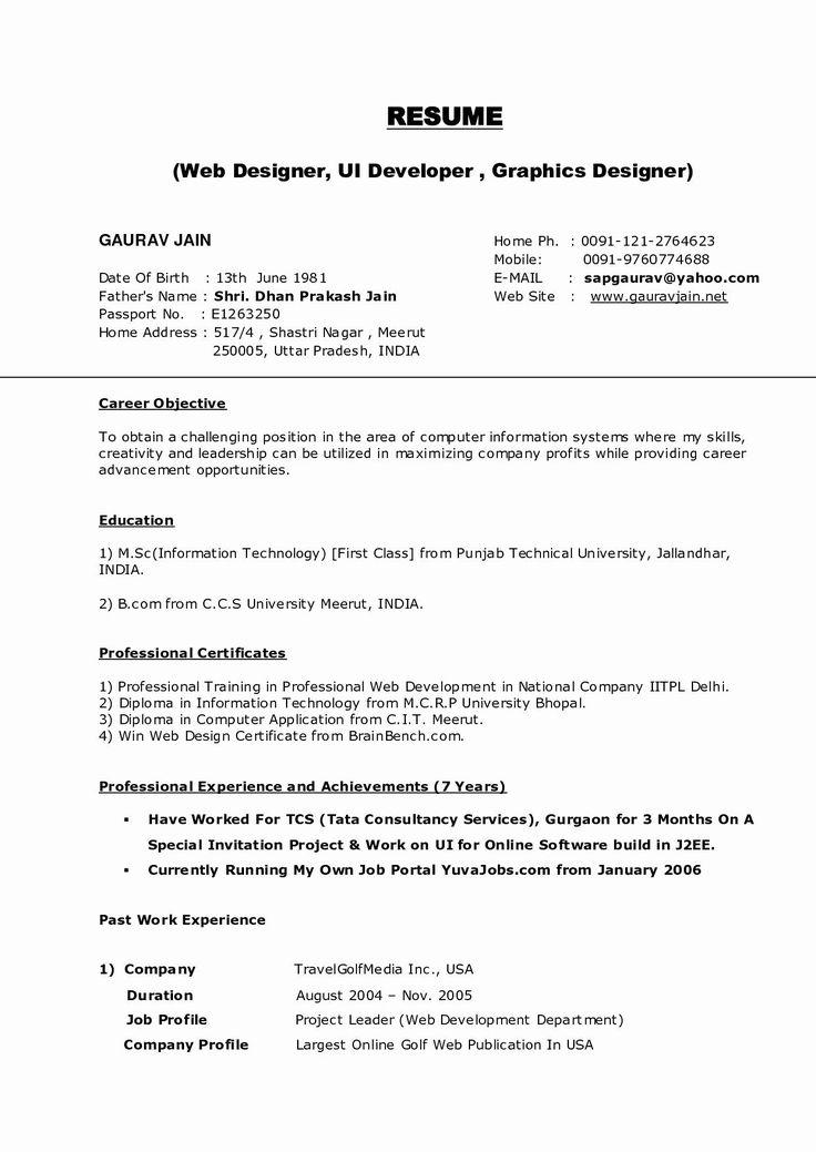 Web Developer Resume Sample Beautiful Web Developer Resume