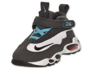 NIKE Air Griffey Max Toddler Shoes, white/blk-anthracite/turq/blue