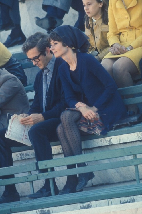 Audrey and her husband Andrea Dotti, 1970.