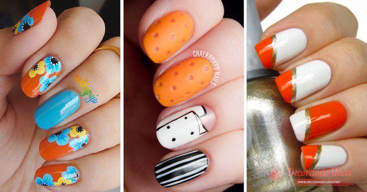 Más de 20 Fotos con diseños de uñas decoradas color naranja - https://xn--decorandouas-jhb.net/mas-de-20-fotos-con-disenos-de-unas-decoradas-color-naranja/