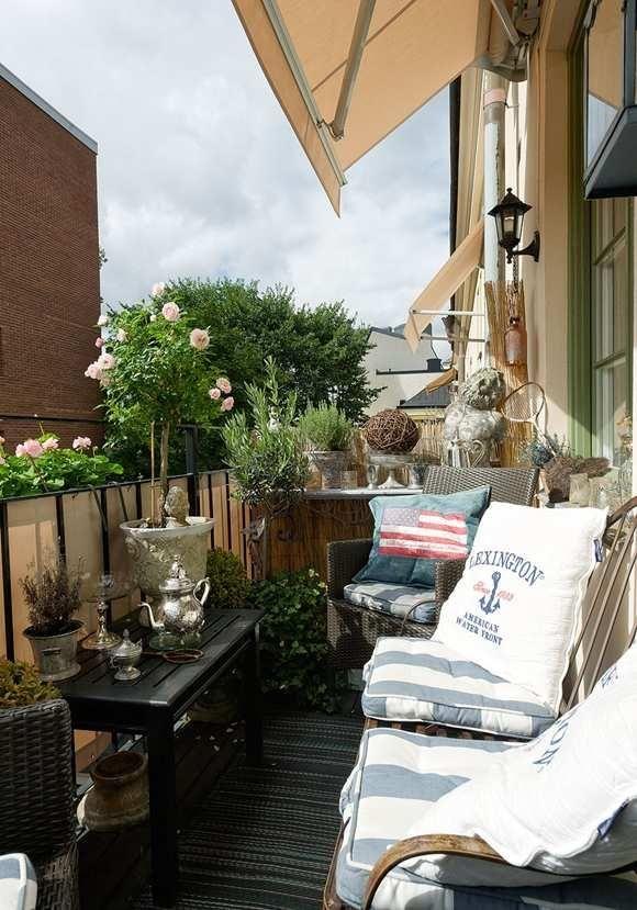 sichtschutz  balkon pflanzen kleines balkon meeresthema