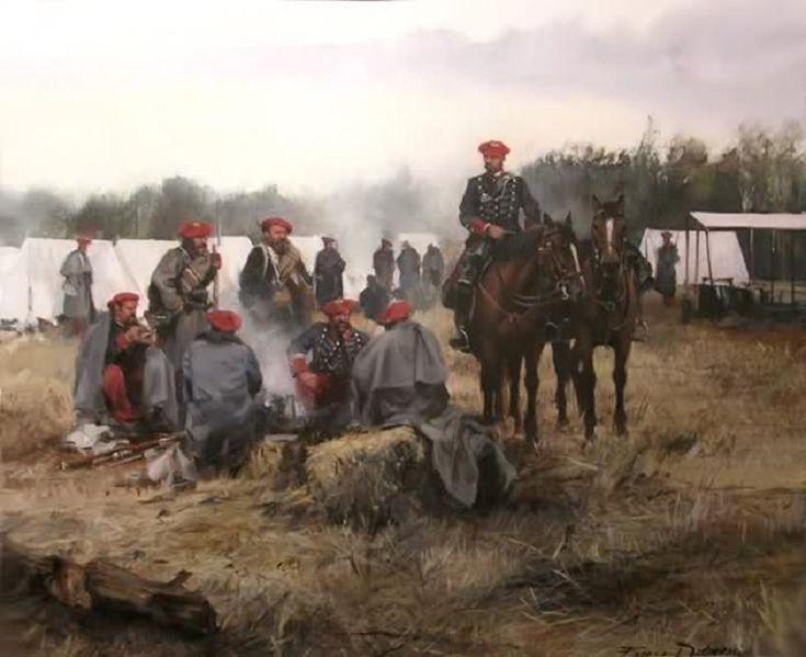 Campamento Carlista, obra de Augusto Ferrer-Dalmau