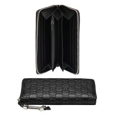 Gucci Continentale Portafoglio Cavallo Dettaglio Nero 242635AF5 GI554