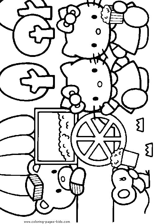 hello kitty color page cartoon characters coloring pages color plate coloring sheetprintable