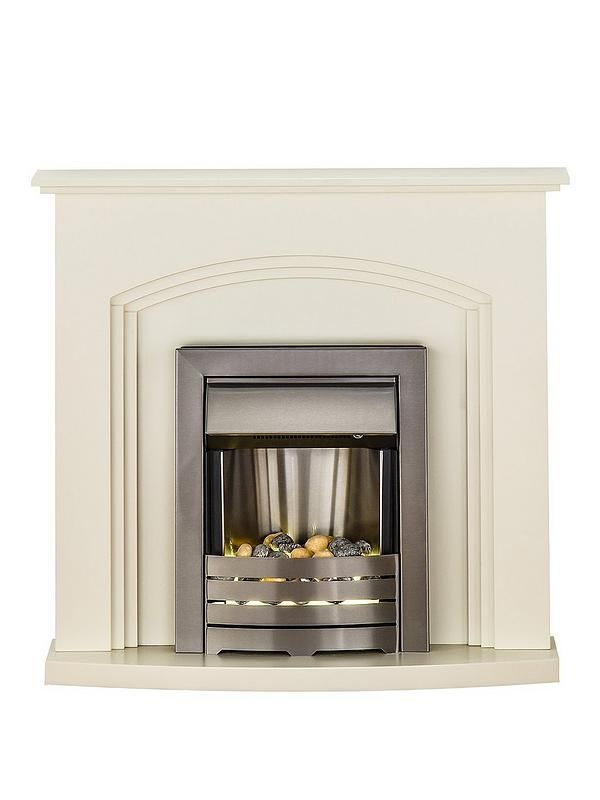 Adam Fire Surrounds ADAM TRURO IVORY ELECTRIC FIRE SUITEWhen it comes to combining stunning style with pure warmth, it doesn't get much better than the Adam Truro Ivory Electric Fire Suite.The surround boats satin ivory styling that exudes simple elegance, combined with a brushed steel fire for a contemporary touch.The realistic glow effect fire gives a natural look with the safety and reliability of an electric fire. The bulb is situated under the screen where the decorative pebbles sit and…