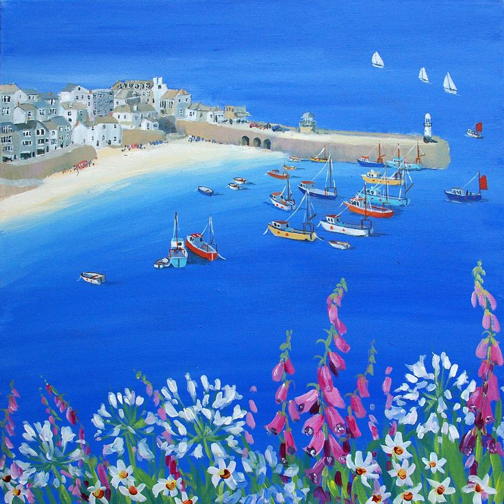 St Ives Harbour View - Original Artwork - Judi Trevorrow - Cornwall Art Galleries