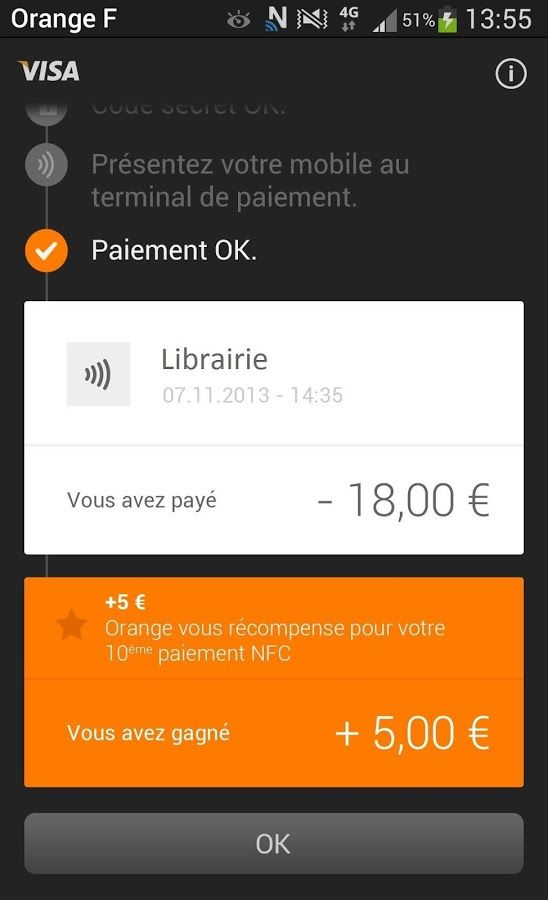Prepaid mobile NFC payments from Orange Cash, France