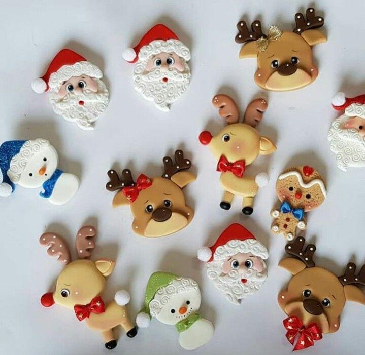 Pin De Ceciliasalazar64 En Navidad Pasta Fria Manualidades Artesanías Navideñas Navidad De Arcilla Polimérica
