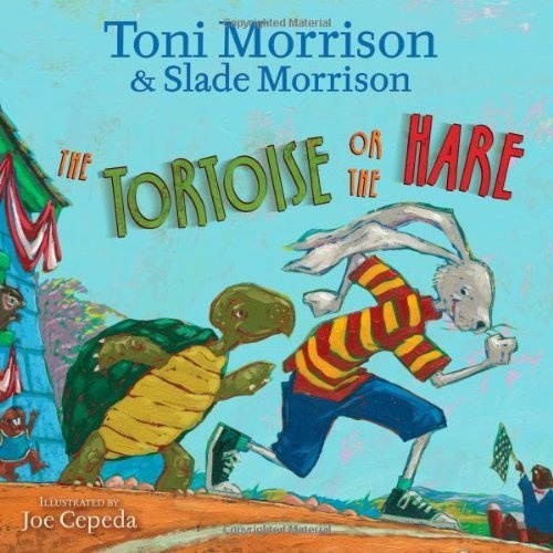 The Tortoise or the Hare by Toni Morrison, http://www.amazon.com/dp/1416983341/ref=cm_sw_r_pi_dp_7K5orb1GSM4Q5