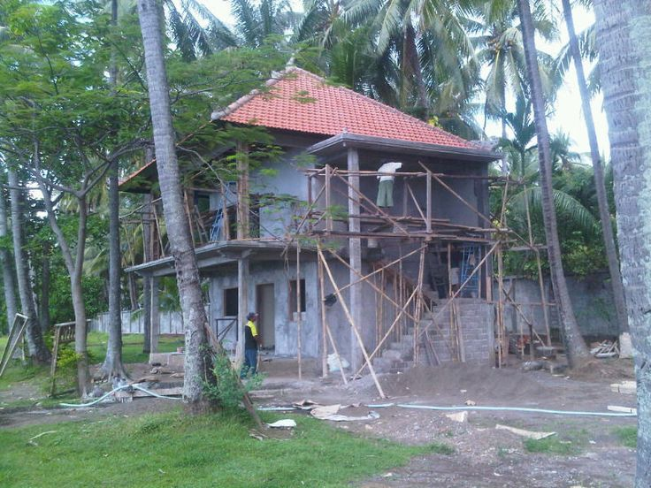 while we were thinking what to construct - first house was almost ready