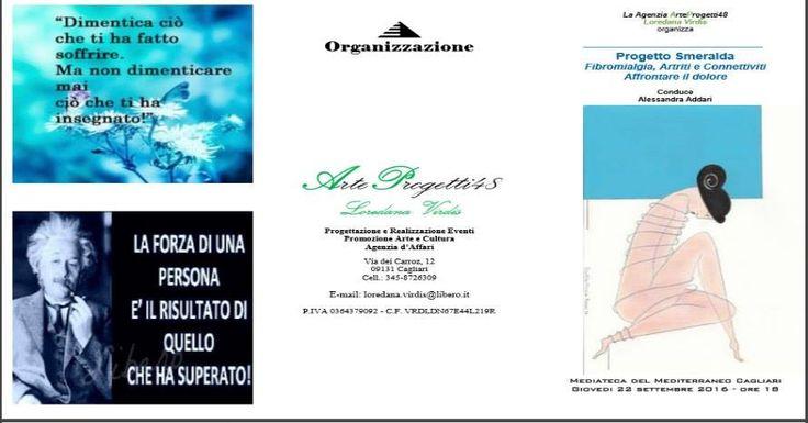 La Agenzia ArteProgetti48 di Loredana Virdis organizza:  Progetto Smeralda – Come affrontare il dolore da patologie reumatiche  #EventiCagliari