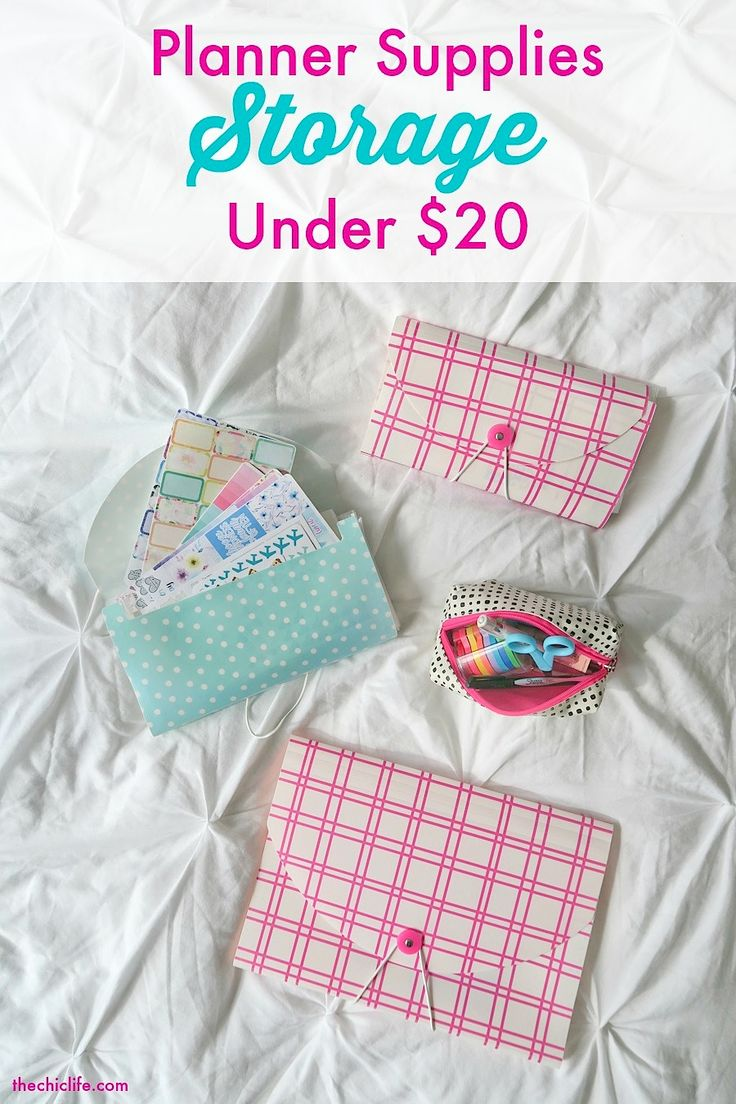 Planner Supplies Storage for Under $20 | Great for Erin Condren, Passion Planner, Filofax, Kikki K decorations, stickers, and washi!