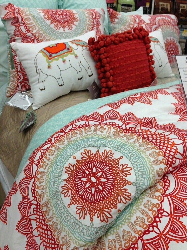 Anthology Bungalow Reversible Comforter Set In Coral