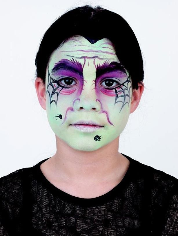 Wicked Witch Face Paint For