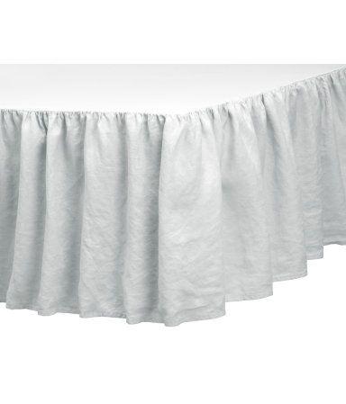 Sängkappa i tvättat linne