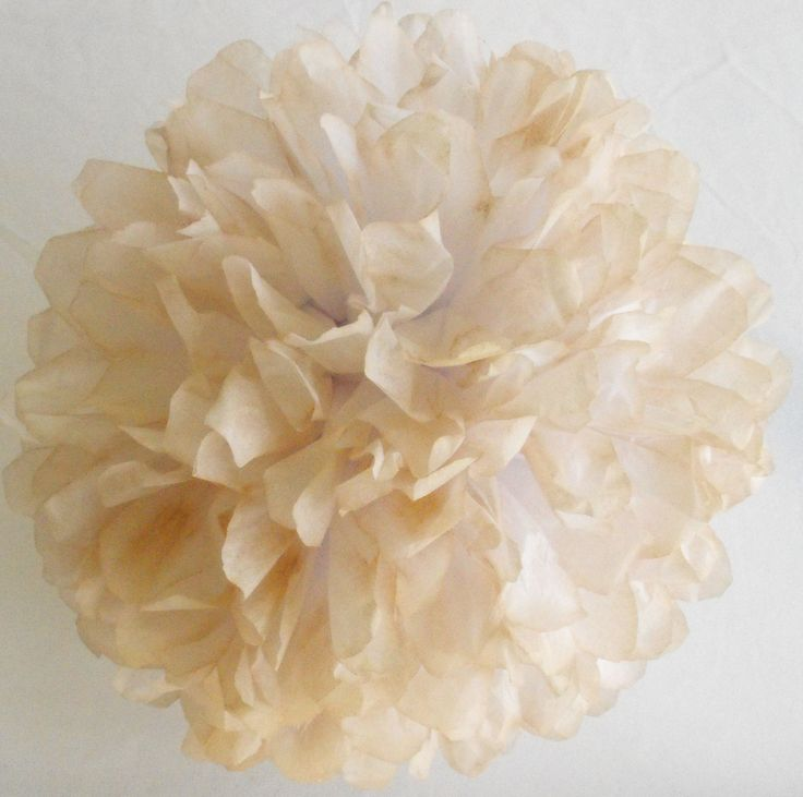 Price: $3 Description: Add a simple, unique touch with this tan tissue paper flower. Great for wedding decorations and baby shower décor. After folding and hand dying this tan tissue paper pompom, I send it to you for the fun part — the blooming! Easy to do with my instructions and the premium paper I …