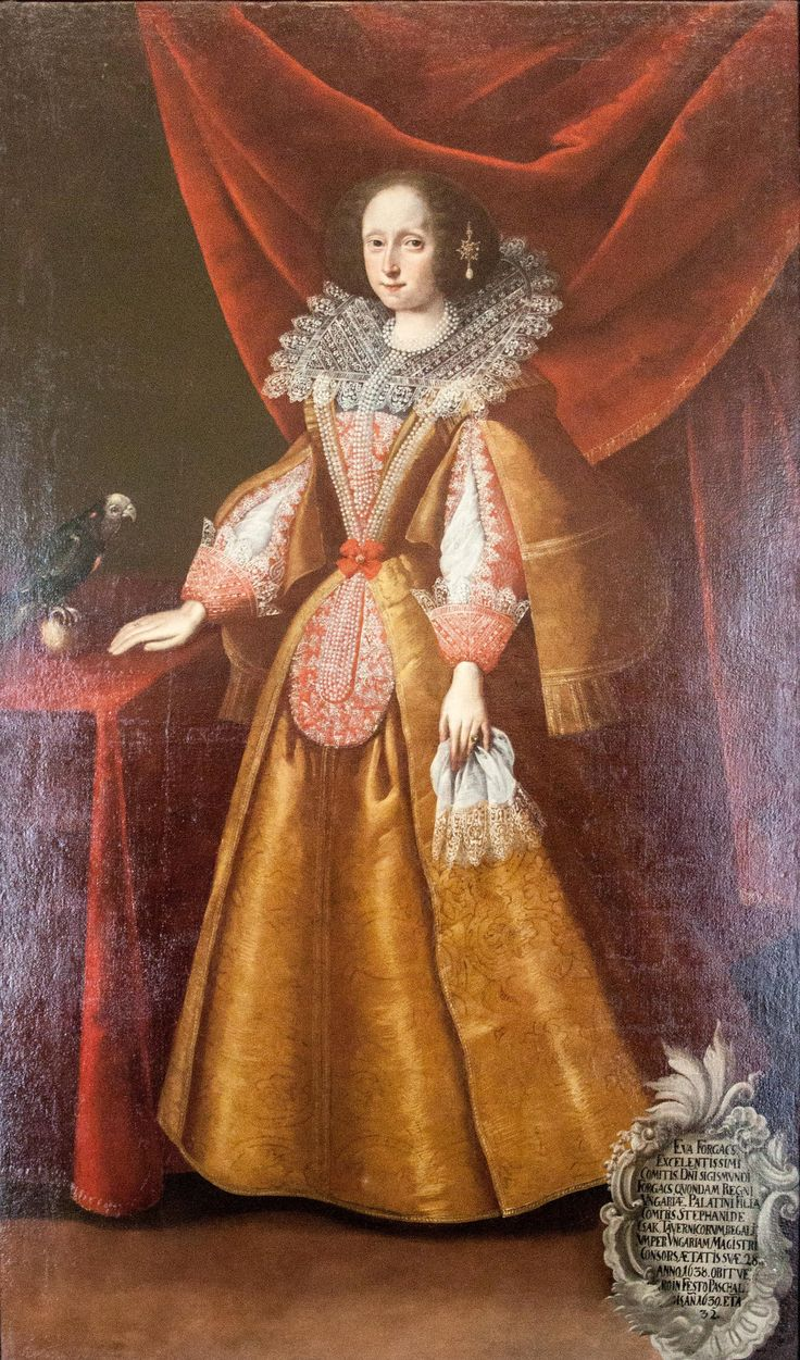Unknown - Éva Forgách wife of Count István Csáky.1638  Hungarian National Museum