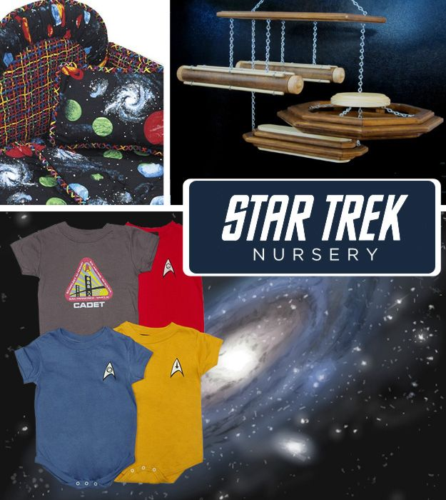 Whether you prefer Kirk, Picard, Janeway, or Sisko, your nursery will boldly go where no baby has gone before.