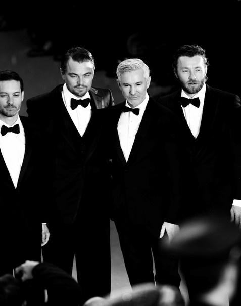 Tobey Maguire, Leonardo DiCaprio, Baz Luhrmann e Joel Edgerton, em Cannes