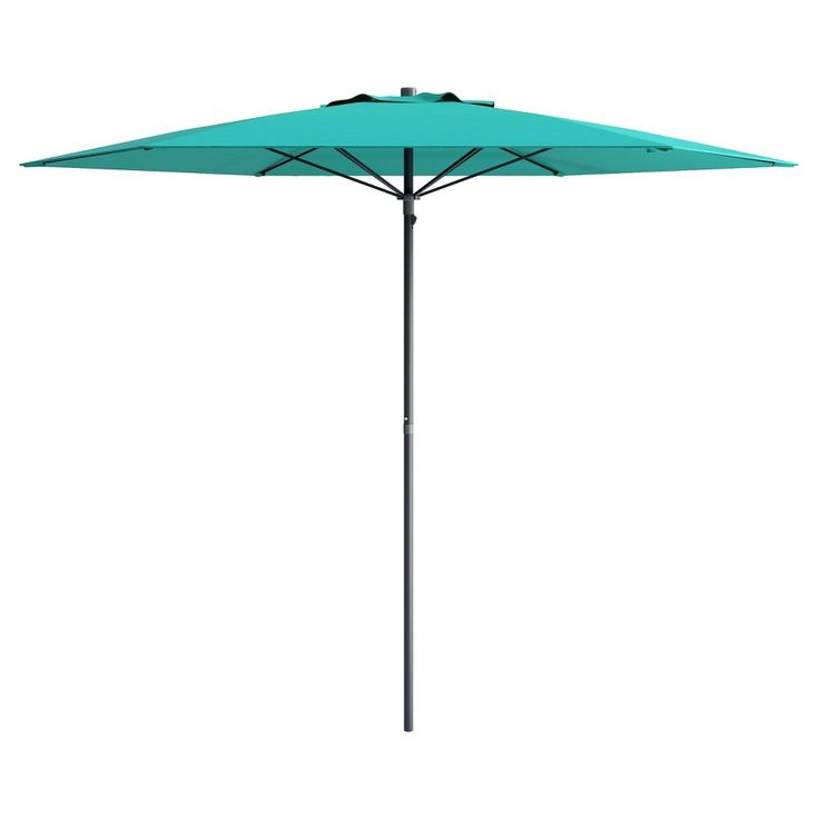 UV and Wind Resistant Beach/Patio Umbrella - Blue - CorLiving, Turquoise