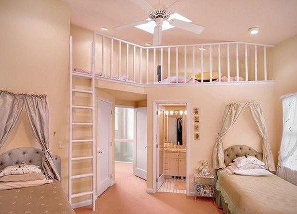 i love this room...such a nice kids roomThe Loft, Little Girls Room, Girls Bedrooms, Kids Room, Room Ideas, Girl Bedrooms, Kid Rooms, Dreams Room, Girl Rooms