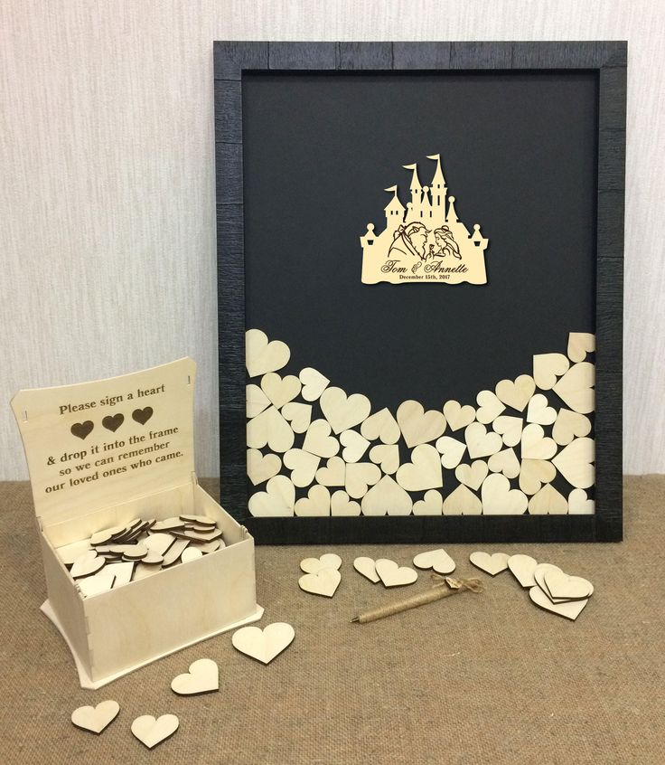 for 100-200 guest Beauty and The Beast Guest Book Alternative, Disney Theme Weddings, Bride and Groom Gift, Wedding Wishes Box, Guest Book by SuperDuperGifts on Etsy