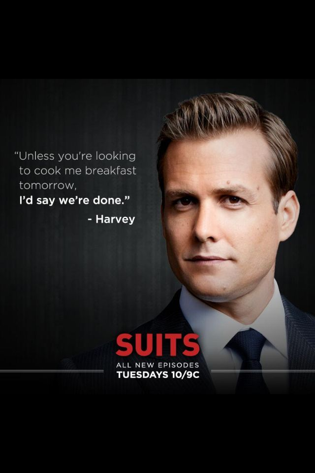 He can make me breakfast ... #HarveySpecter #Suits