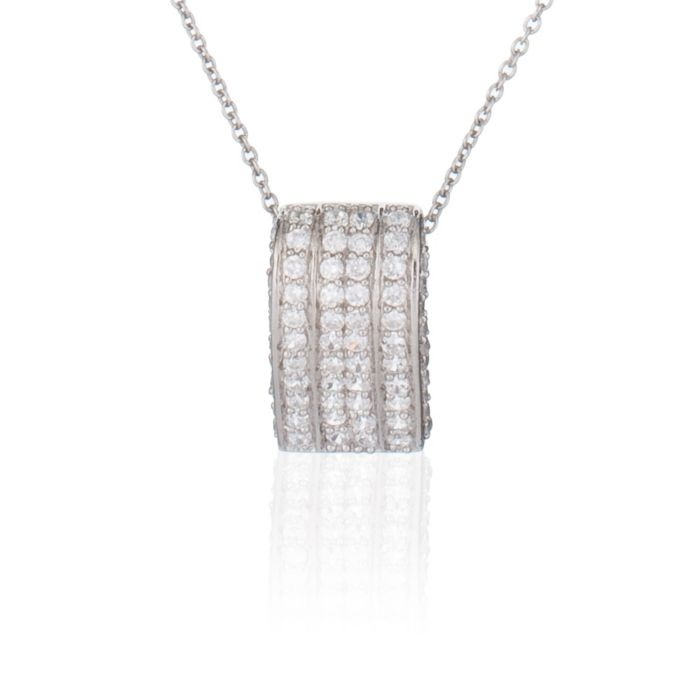 Rectangular Pendant with Sterling Silver Chain (ORPHELIA1 1058373)