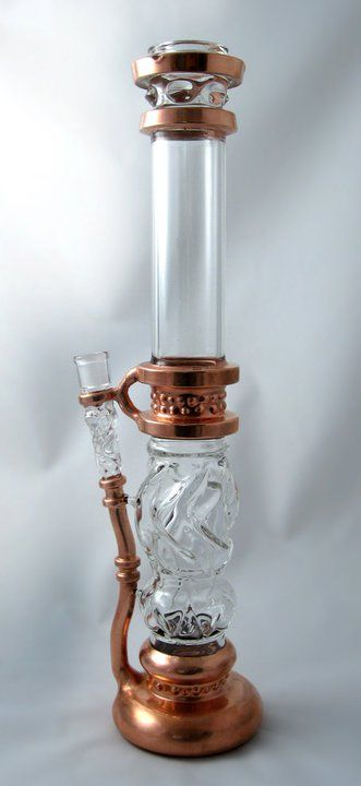 steampunk Shipwreck Bong Glass and cooper water pipe Vintage style Marijuana green weed 420 - Buy salvia, kratom, bongs and vaporizers online at http://www.buysalviaextract.com/