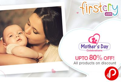 FirstCry brings #MothersDay #Celebrations and offering Upto 80% off on all products on #discount. 4 Daily Deals, Special Offers, Brand Specials & more. Extra 10% cashback from MobiKwik Wallet. Firstcry Coupon Code – MOM10  http://www.paisebachaoindia.com/upto-80-off-on-all-products-on-discount-mothers-day-celebrations-firstcry/