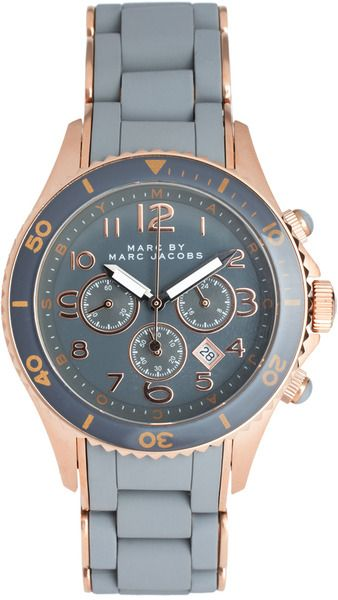 Marc Jacobs gray and rose gold watch  @Rose O'Connor