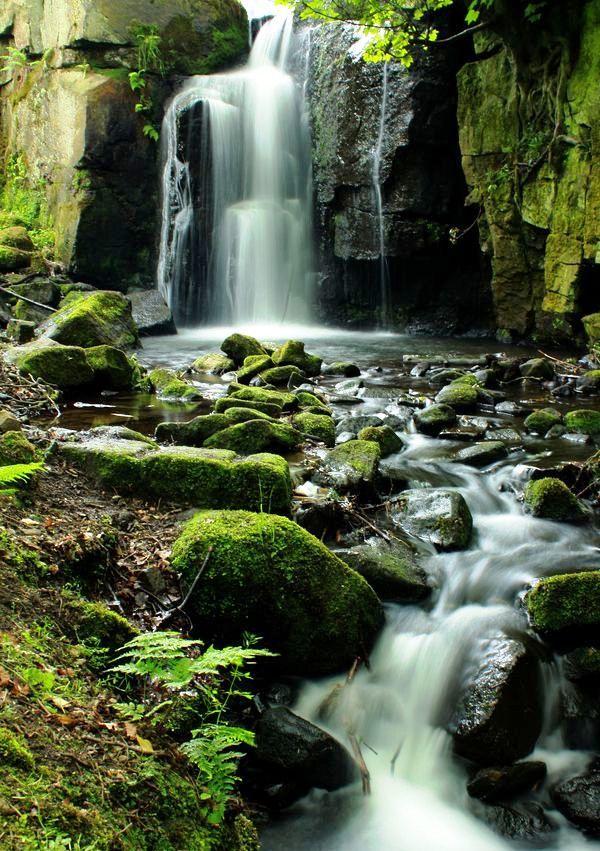 Lumsdale Falls, Peak District - Derbyshire, England