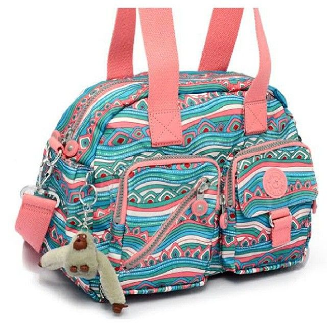 Brand New Authentic Kipling Defea Medium Printed Shoulder Bag Color: Pink Aztec Php 3,900
