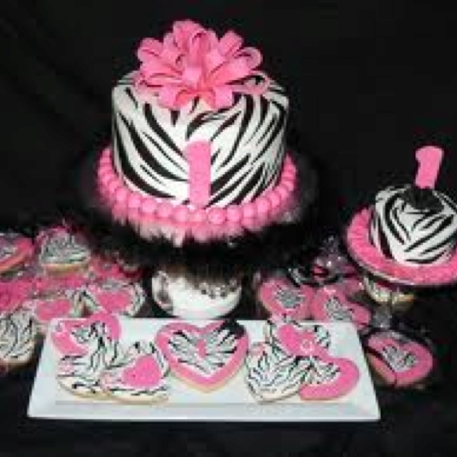 Little Girl Zebra Birthday Party Ideas Image Inspiration of Cake