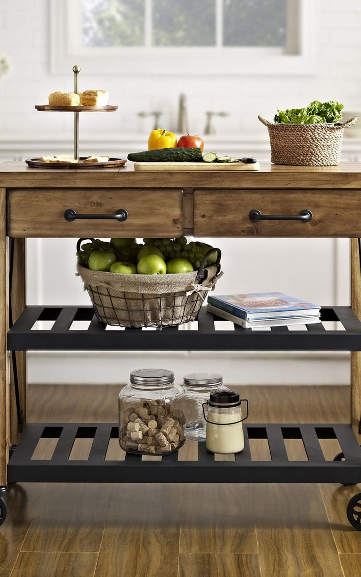 How to build a rustic kitchen cart woodworking projects for How to build a rustic kitchen island