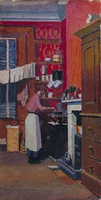 """""""The gas cooker,"""" 1913, Spencer Gore (1878 - 1914)"""