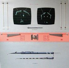 Schermo d'analisi e uniregolatori <br />1975 - cm120x120 - acrilici su tela con inserti metallici