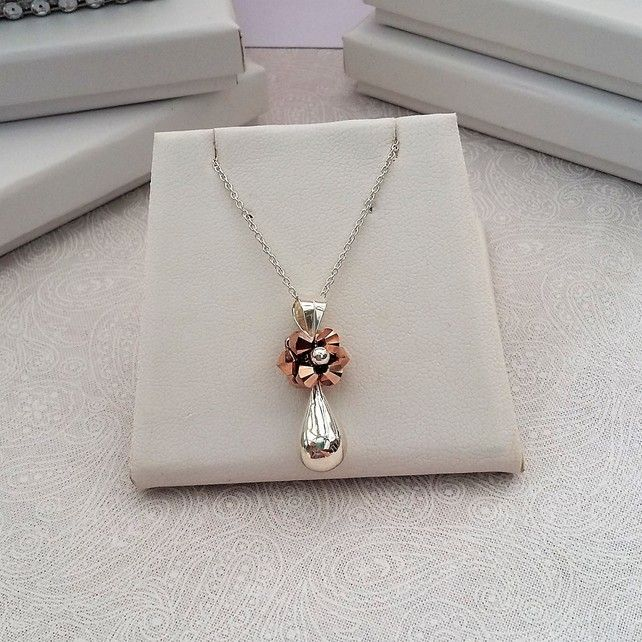 Sterling Silver and Rose Gold Pendant £22.00