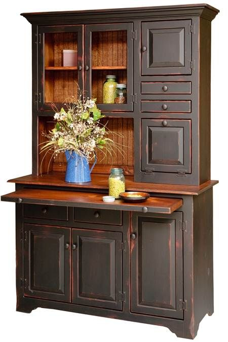 Large Hoosier Hutch & Buffet